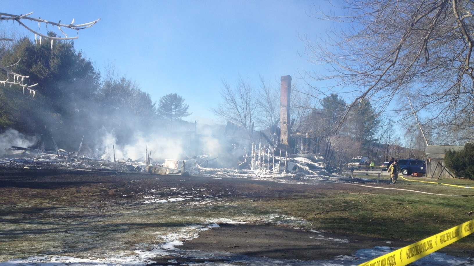 On Friday, firefighters returned to the scene to help put out hot spots. The state fire marshal's office was also called to the scene.