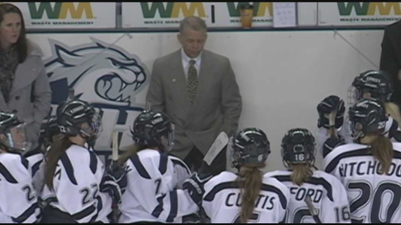 "The UNH women's hockey coach is no longer with the team after the university received a report of ""inappropriate"" behavior during a game."