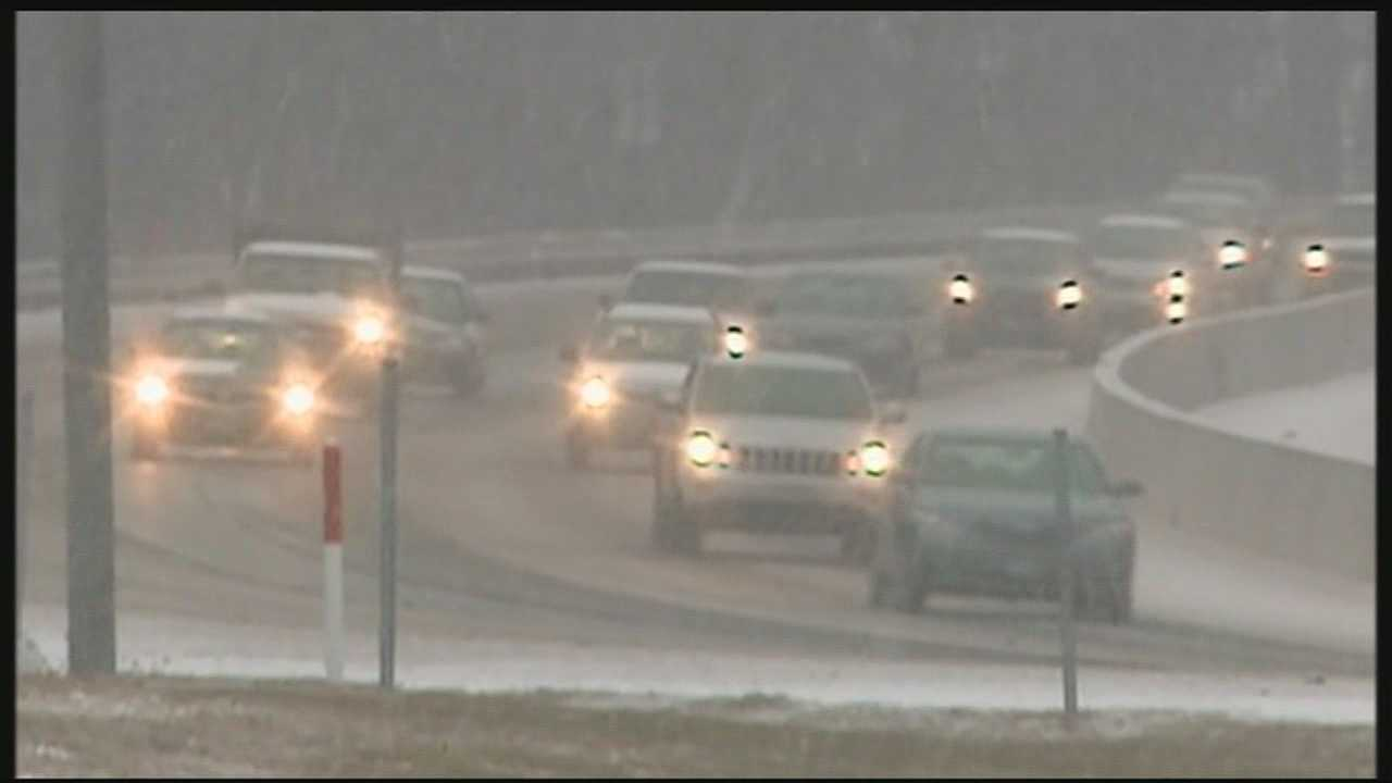 Winter weather slows morning commute
