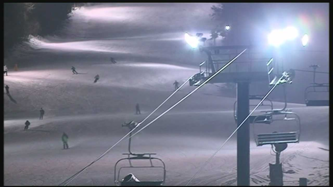 An investigation is underway at Crotched Mountain ski area in Bennington after a woman and a child fell 40 feet from a chairlift.