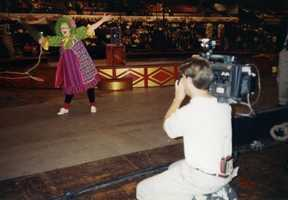 Jean Mackin at clown school