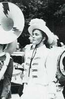 Erin Fehlau in her marching band