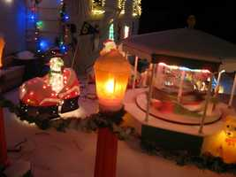 Claremont: Francis Street. This holiday display started more than 20 years ago.  http://www.claremontchristmaslights.com
