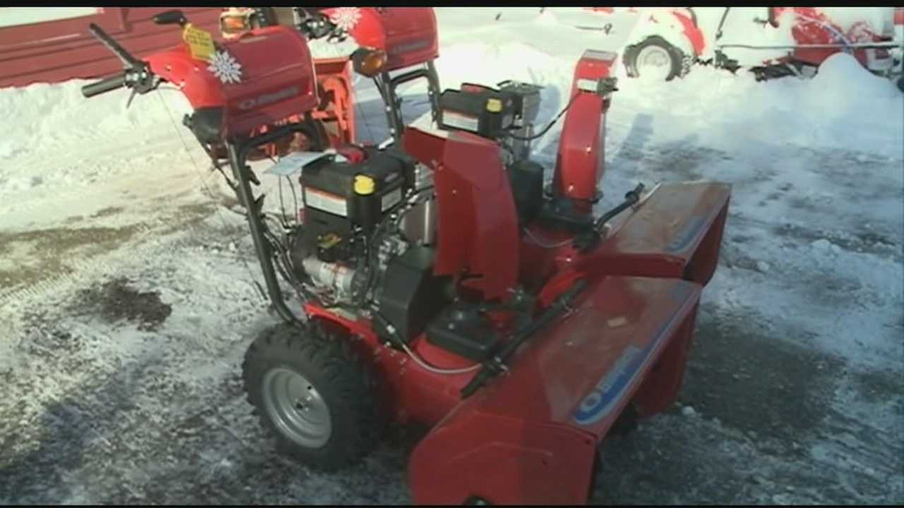 Granite Staters haul out snowblowers after storm