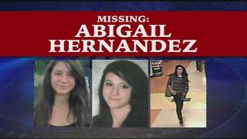 The disappearance of Abigail Hernandez sparked a massive search effort by the FBI, local authorities and the Conway community. Read more: http://www.wmur.com/news/nh-news/authorities-new-tips-coming-in-on-missing-girl/-/9857858/23373486/-/vlde4xz/-/index.html