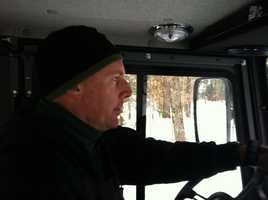 Chris Gamache, director of the Bureau of Trails, takes a look at the snowmobile trails.