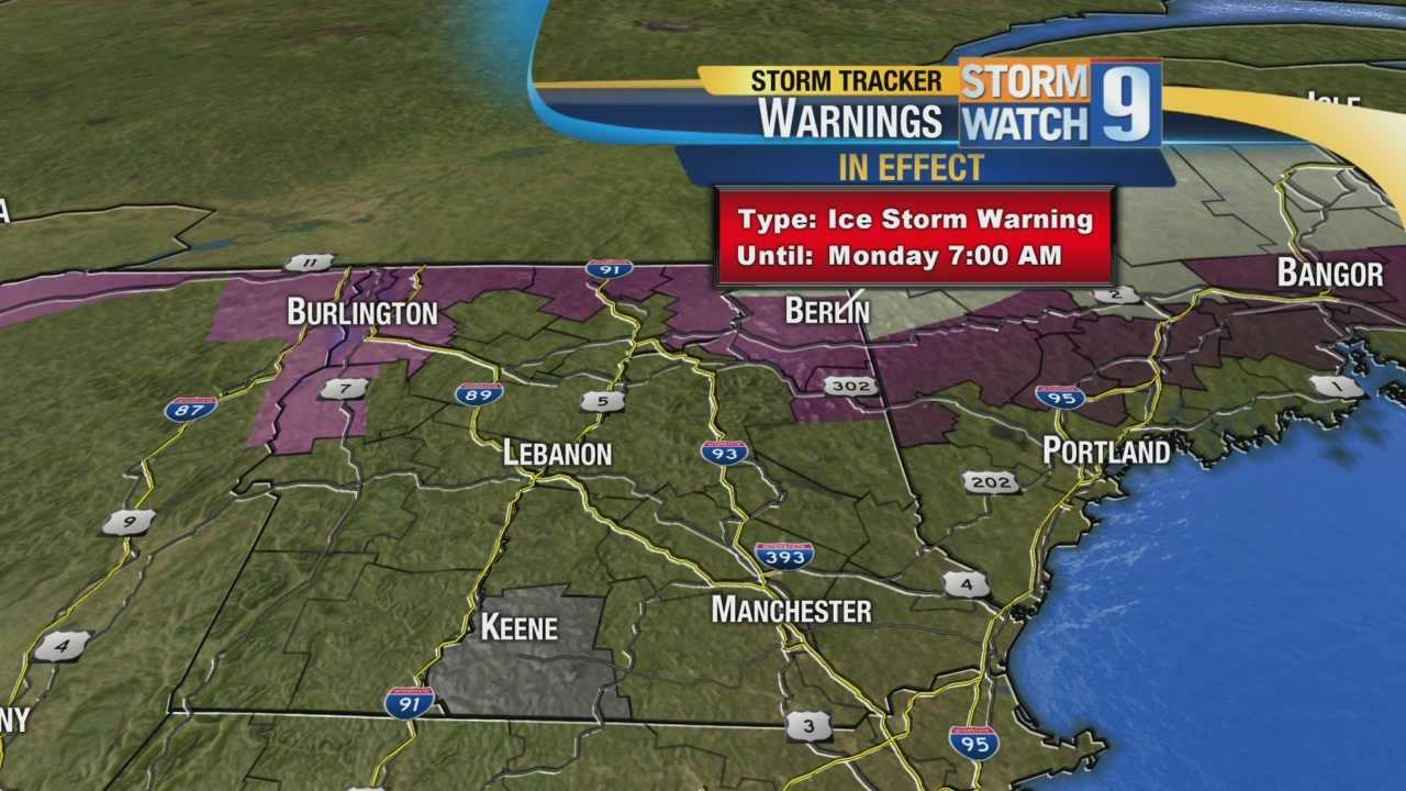 Saturday Webcast: Overnight ice storm heads towards Granite State