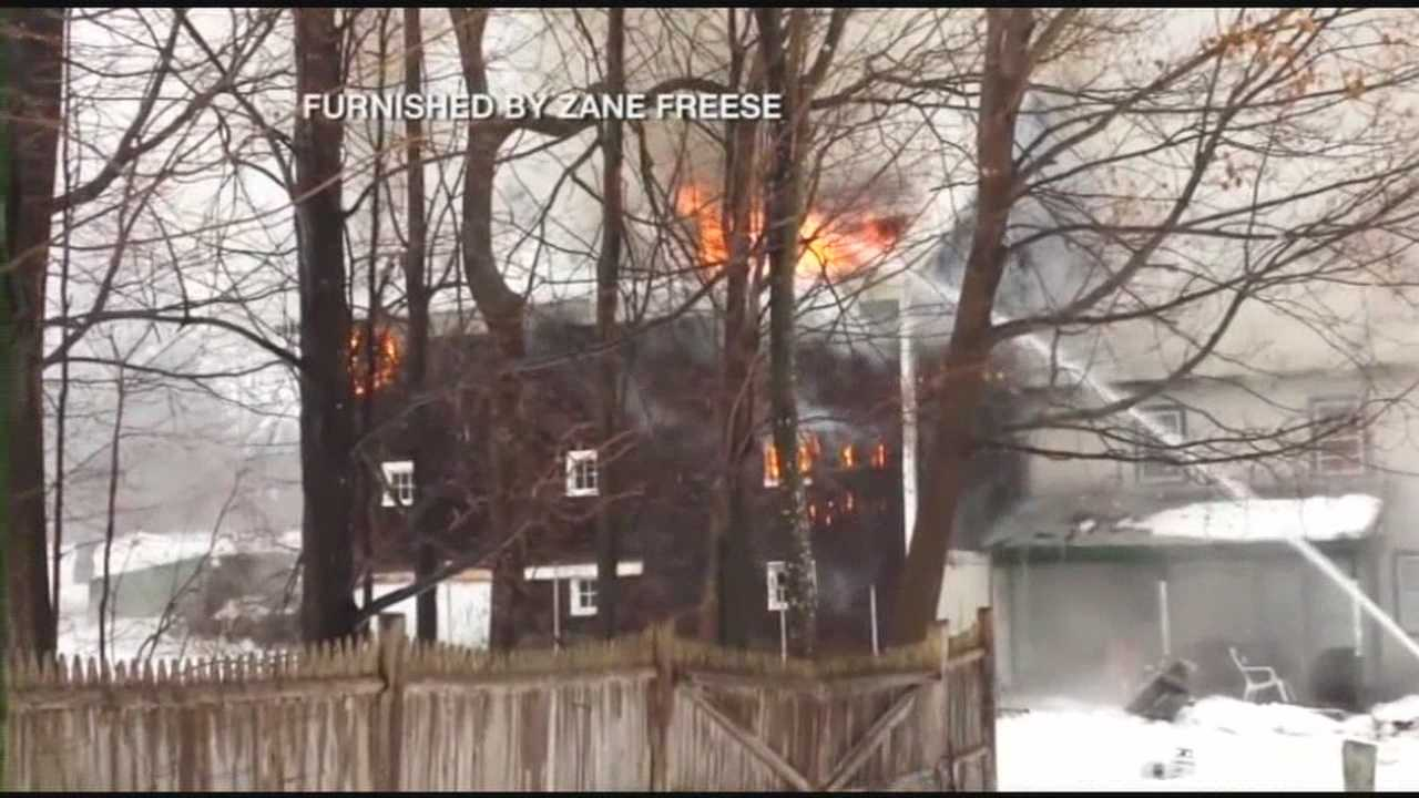 Henniker fire destroys home