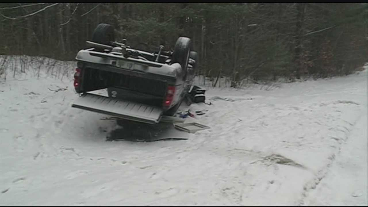 Dozens of accidents caused by slick roadways