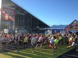 The Speedway 5k as part of the September race weekend at NHMS.