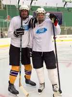 Both guys did a good job taking up space on the ice, but that is about the extent of their contribution to the victory!