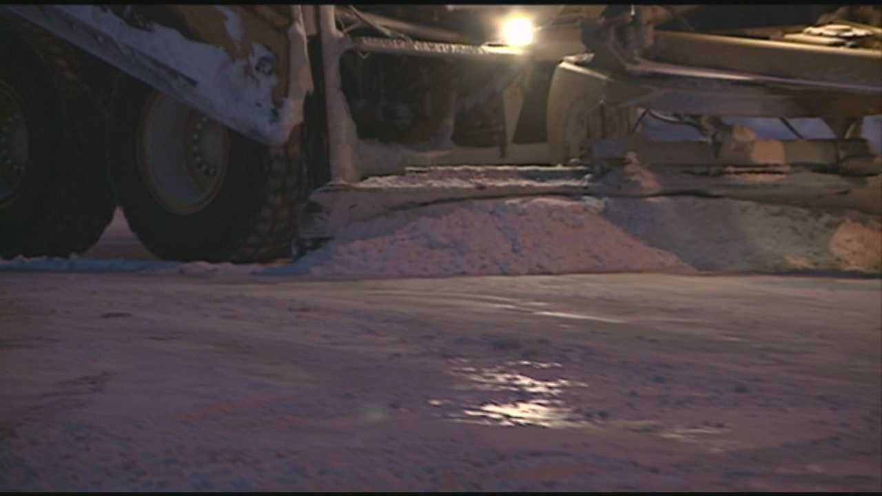 Bone-chilling temperatures make it difficult for crews to clear roadways across the state.