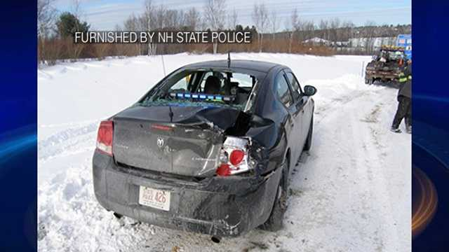 Derry woman crashes into state police cruiser in Tilton