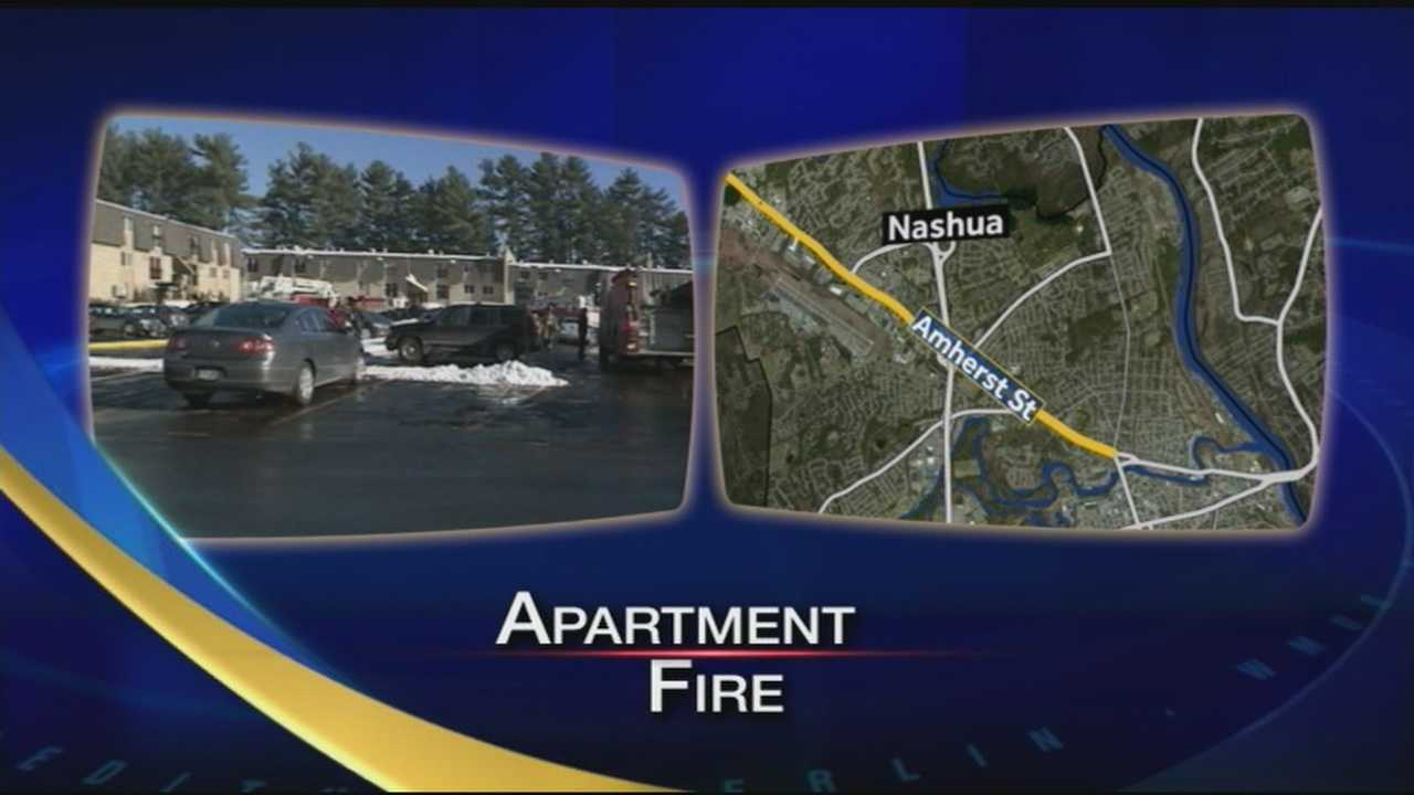Firefighters respond to fire at an apartment complex in Nashua.