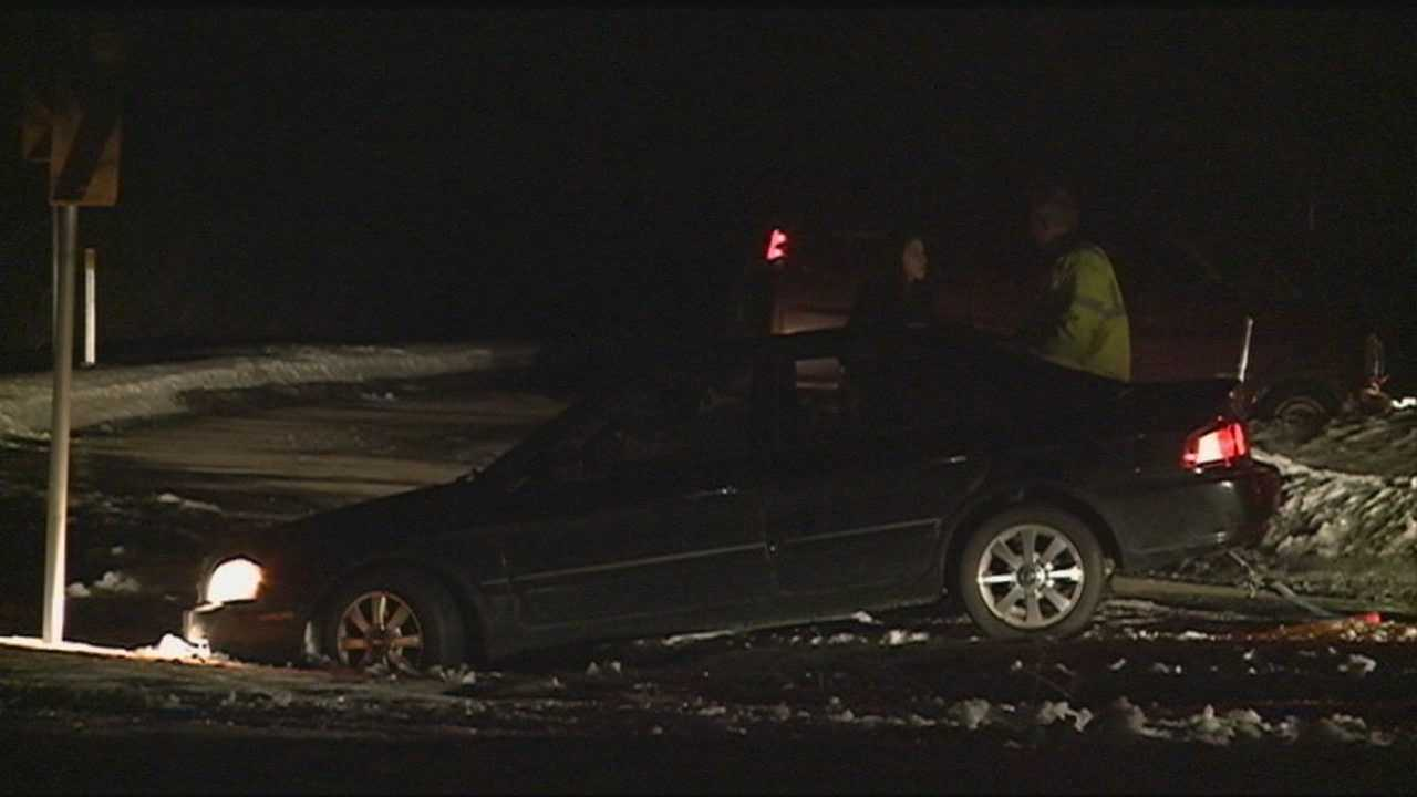 Hooksett icy road crash