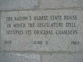 In 1819, the first legislative session was held. The New Hampshire state house is the nation's oldest state house in which the legislature still occupies its original chambers.