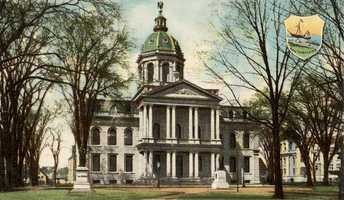 In 1814, New Hampshire's leaders discussed constructing a state capitol building.