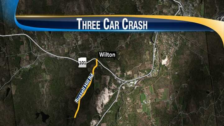 Wilton crash map
