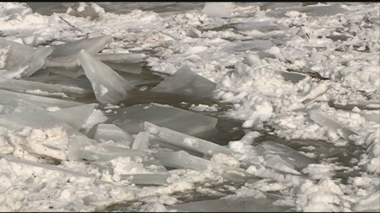Ice jam causes flooding concerns