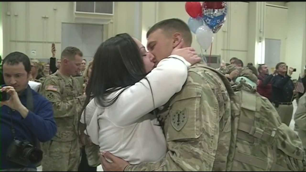 National Guard members reunite with loved ones