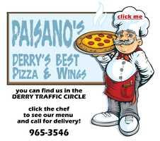 11 tie) Paisano's Pizzeria, Derry