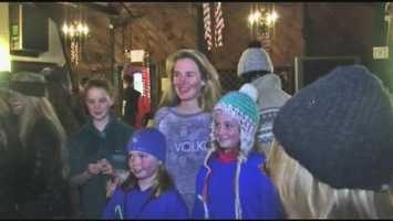 Julia Krass (center), of Hanover, will be competing in the Freestyle Skiing competition.