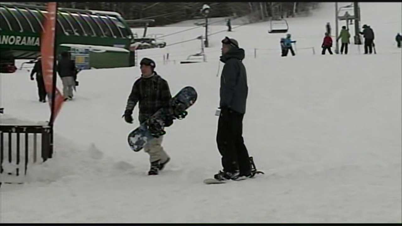 Ski slopes busy after storm