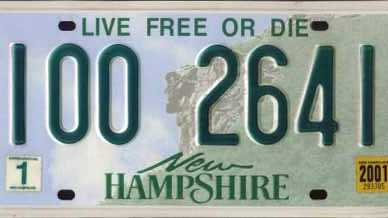 License Plates - New Hampshire