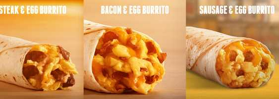 There will be three breakfast burritos.