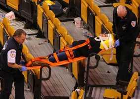 The incident is under investigation. (Photo Courtesy: John Tlumacki/Boston Globe)