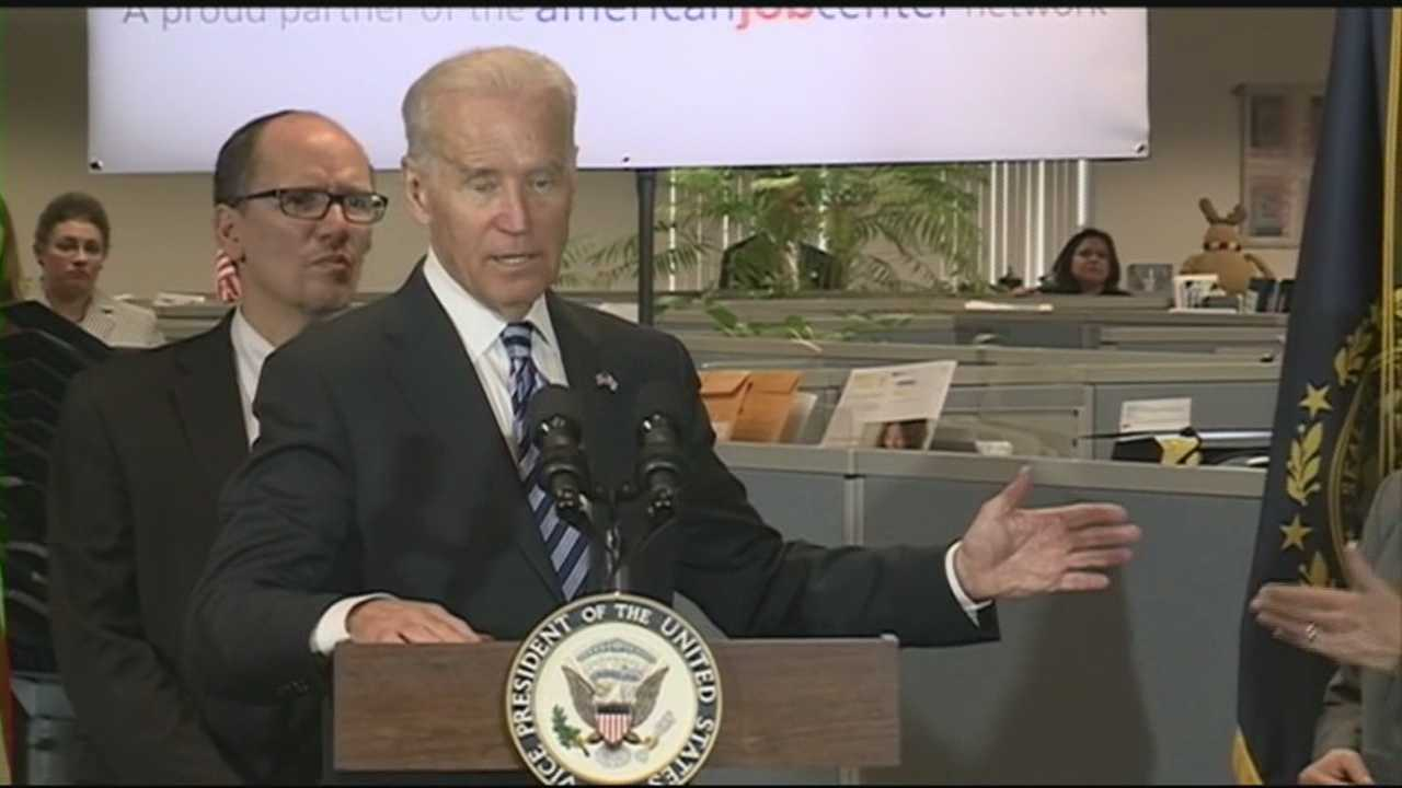 Joe Biden talks jobs in New Hampshire