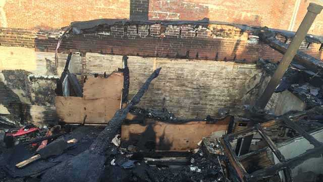 The firefighters made a mayday call when they became trapped.