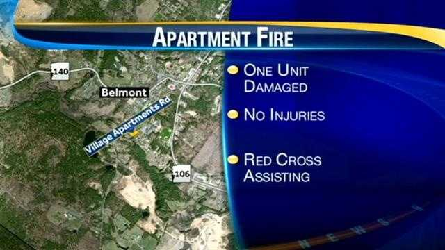 Belmont Fire Map