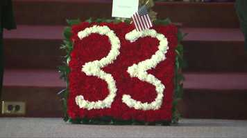 Flowers honor his Engine 33.