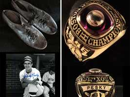 Johnny Pesky's personal collection, including his '04 and '07 World Series Ring, are going on the auction block Saturday at Fenway Park.
