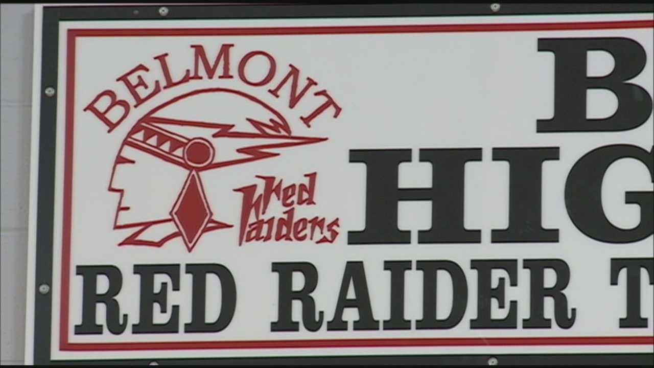 Belmont debates changing high school's Red Raiders logo