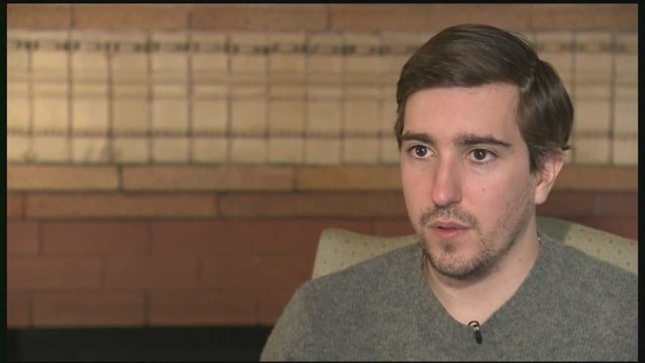 Jeff Bauman, who survived the Boston Marathon bombing in 2013, has promised he will be at the finish line in 2014 to cheer on the team running for him.