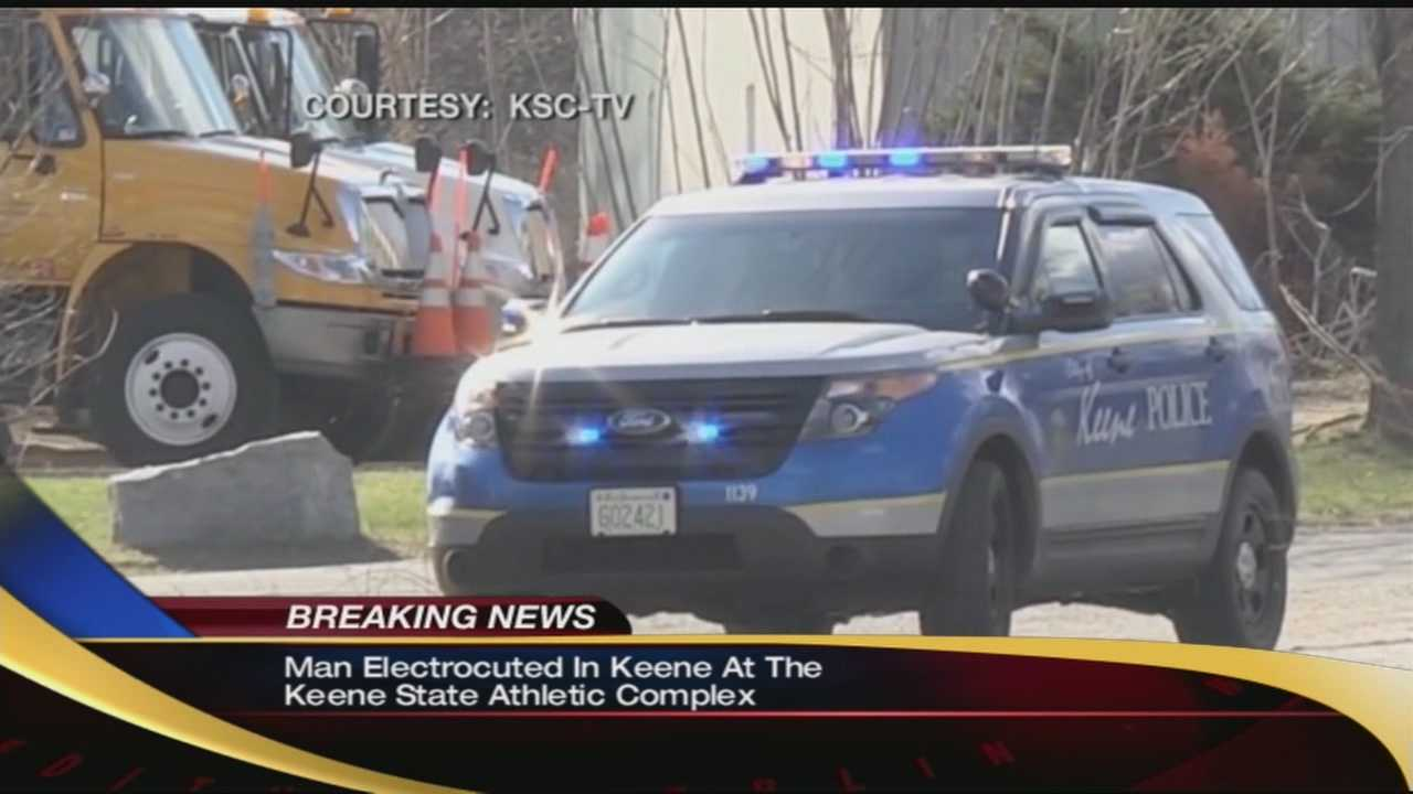 A man was electrocuted near the athletics complex on the Keene State College campus Saturday afternoon.