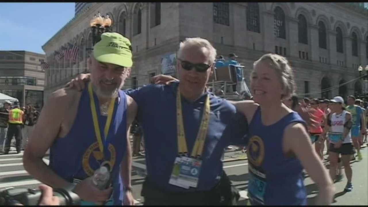 Thousands come out for Boston Marathon
