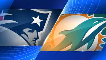 Week 1 - New England Patriots at Miami Dolphins - Sept. 7, 1 p.m.  CBS