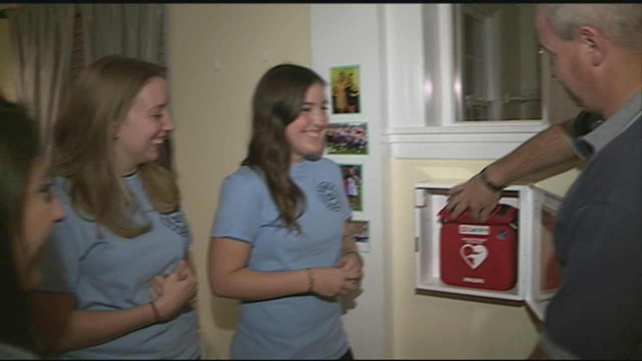 UNH sorority gets automated external defibrillator