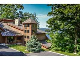 This Lake Sunapee property on Bay Point Road in Sunapee is listed for $2395,000.