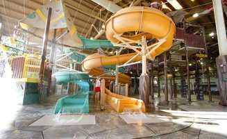 The resort features an indoor water park,