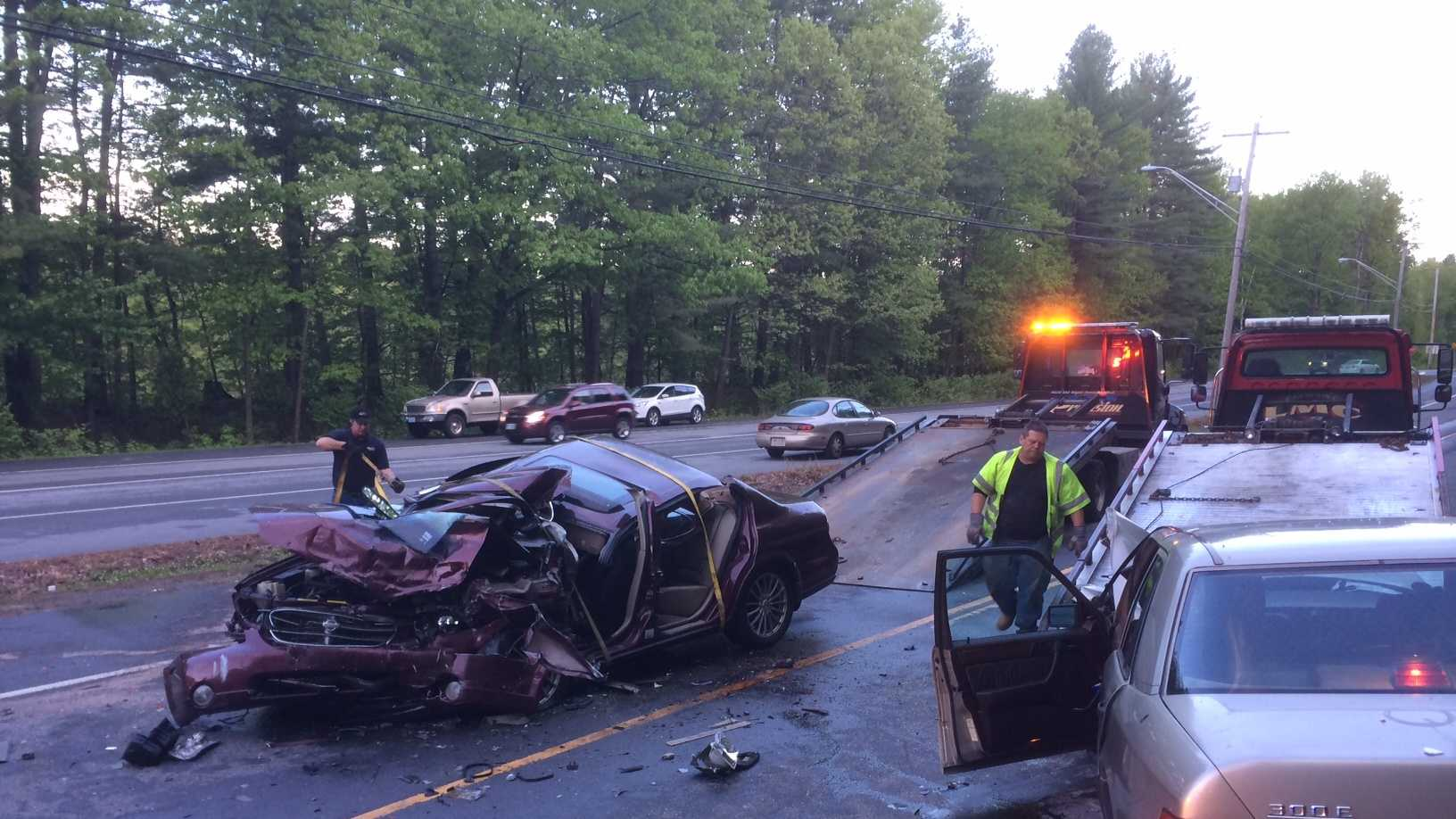 Two sent to the hospital after serious crash