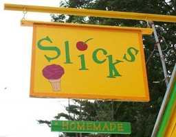 3. Slick's Ice Cream in Woodsville