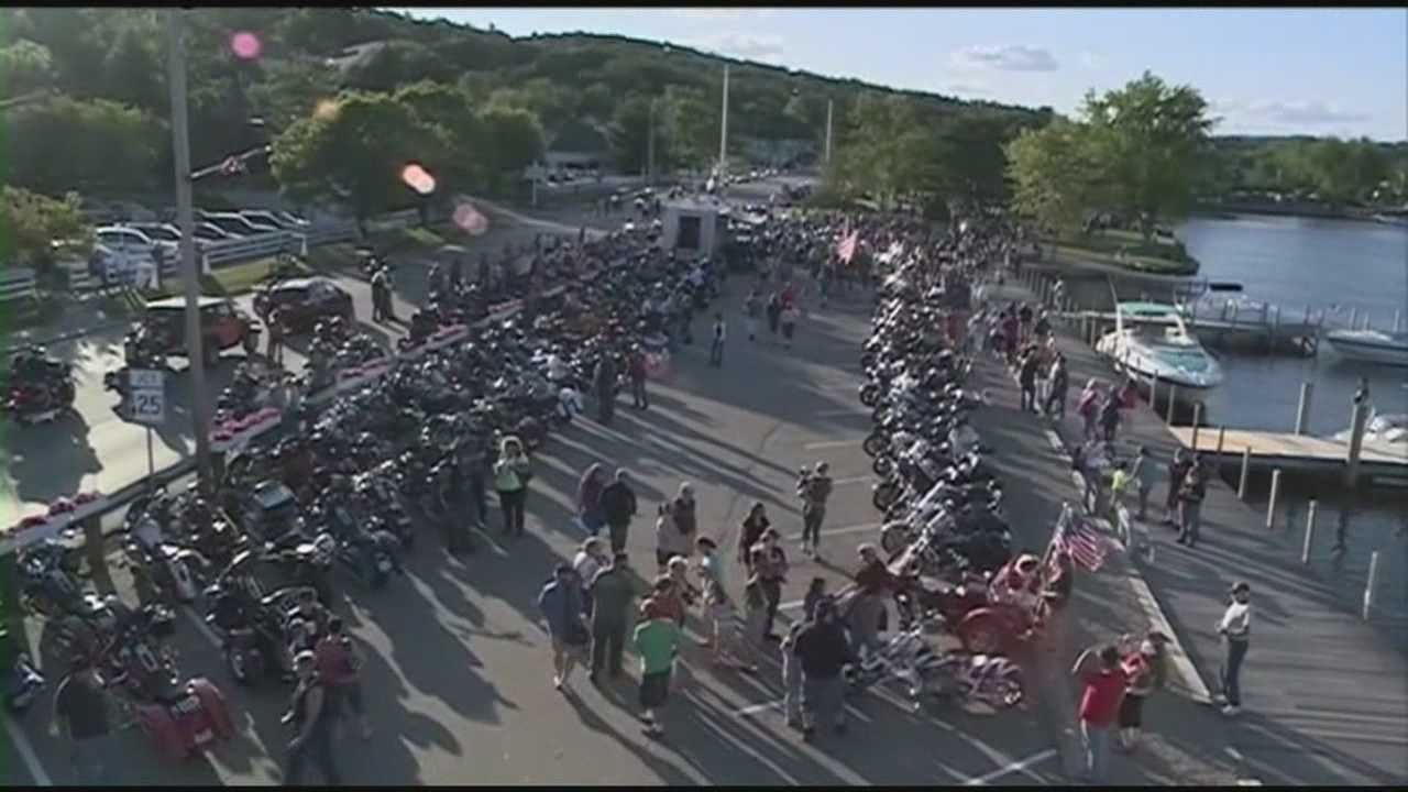 More than 1,000 motorcyclists came out for the annual Freedom Ride in Hesky Park in Meredith Thursday.