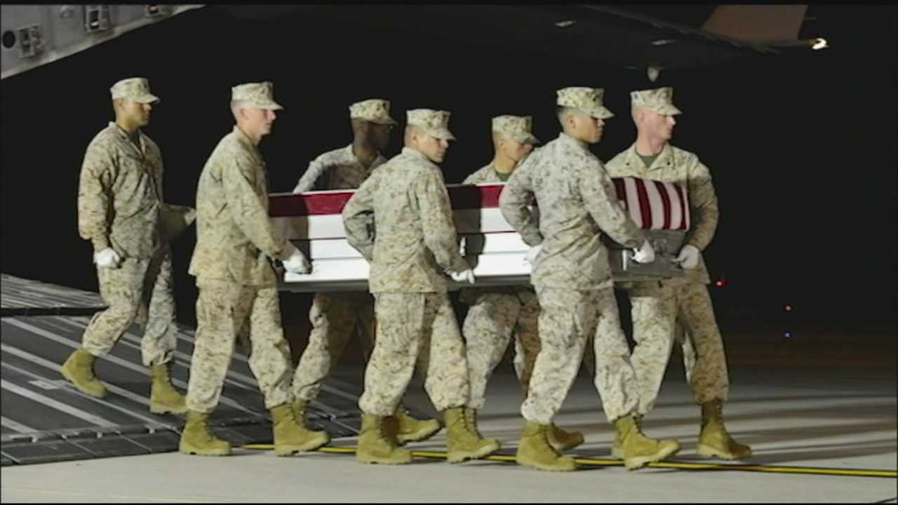Residents mourn Marine killed in Afghanistan