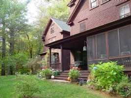 At 314 College Road in Center Harbor, it is near the Chamberlain-Reynolds Forest and is a particularly private spot. The lodge is surrounded by 15 private acres of land.
