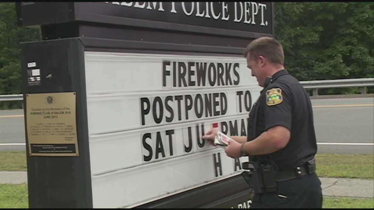 Weather forces postponement of several fireworks events
