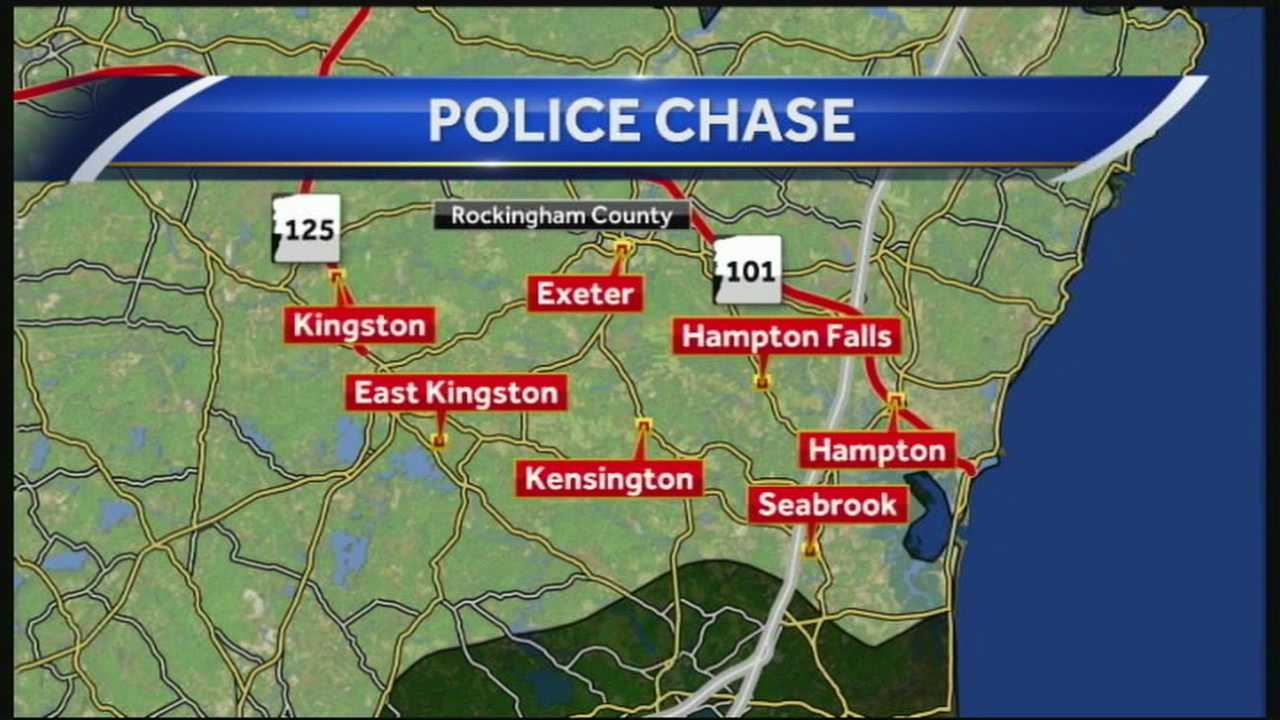 Police chase suspect through multiple towns